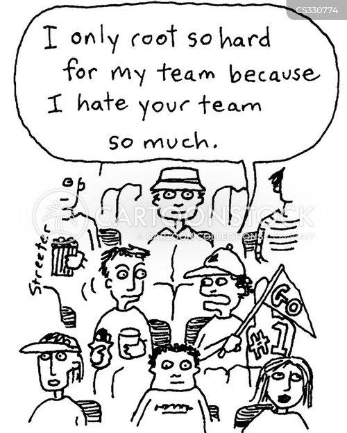 rooting cartoon