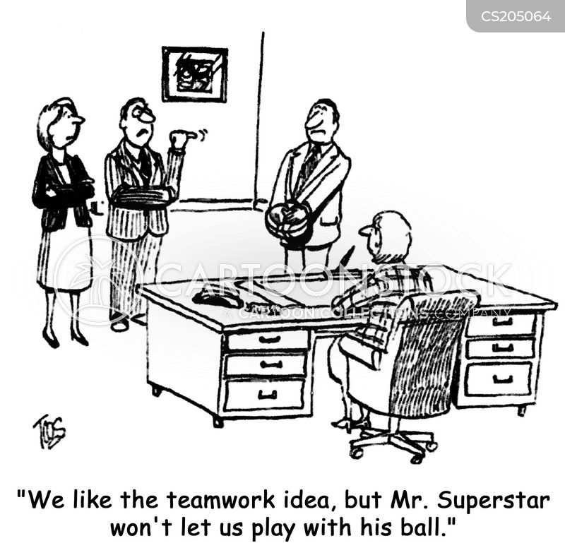 team-work cartoon