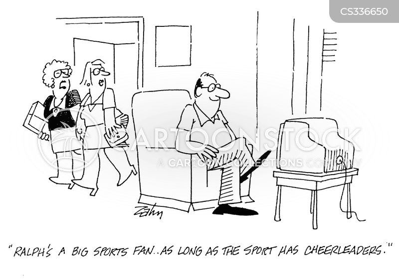 armchair fan cartoon