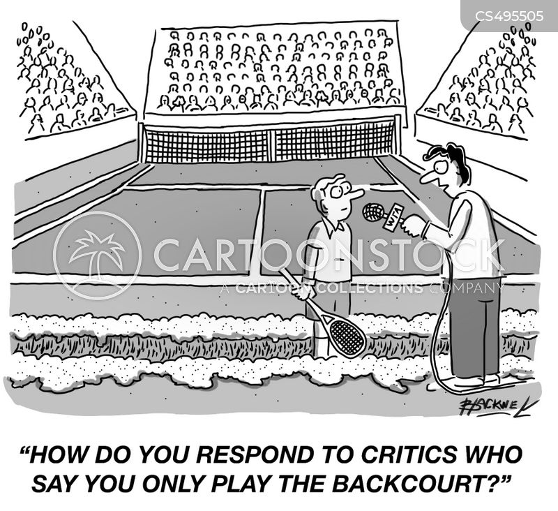 sports journalist cartoon