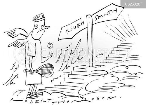 lawn tennis cartoon
