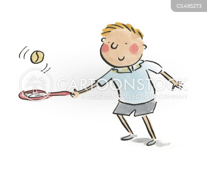 tennis fans cartoon