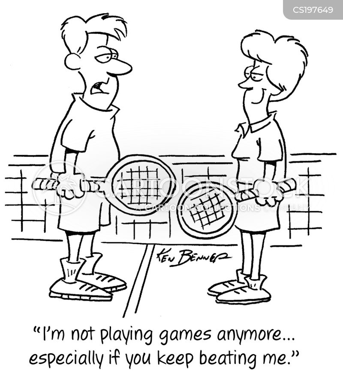 tennis game cartoon