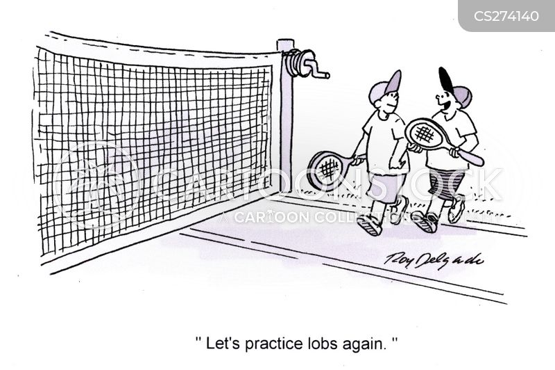 badminton player cartoon