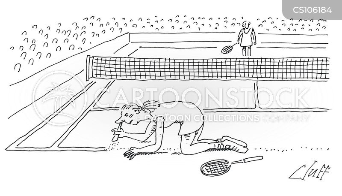 female tennis players cartoon