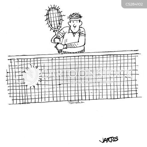 tennis racquet cartoon