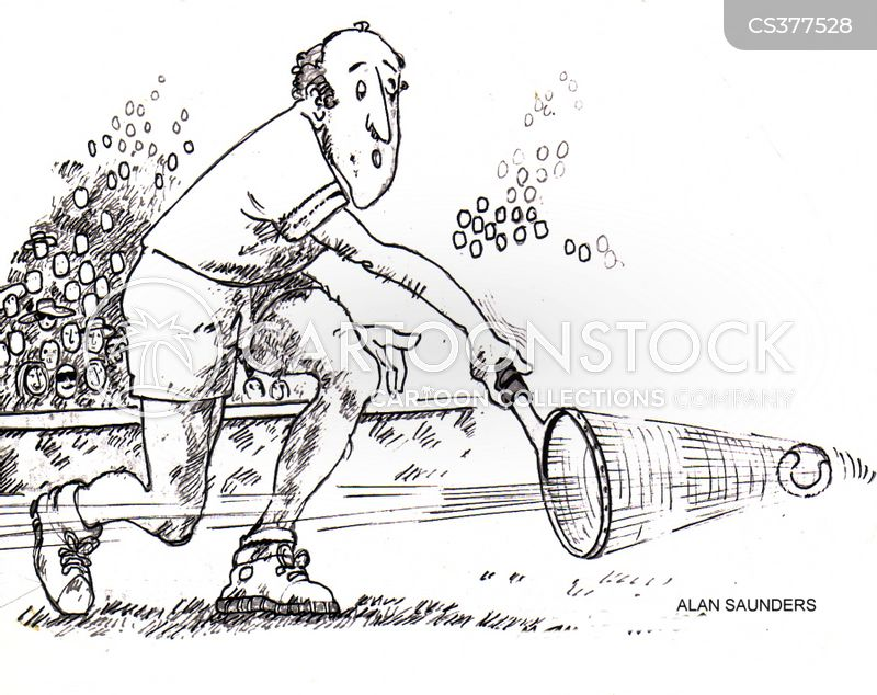 tennis racquets cartoon