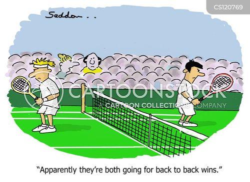 racket cartoon
