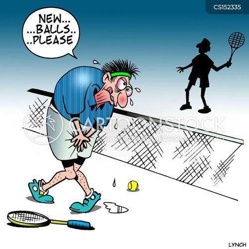 tennis injury cartoon