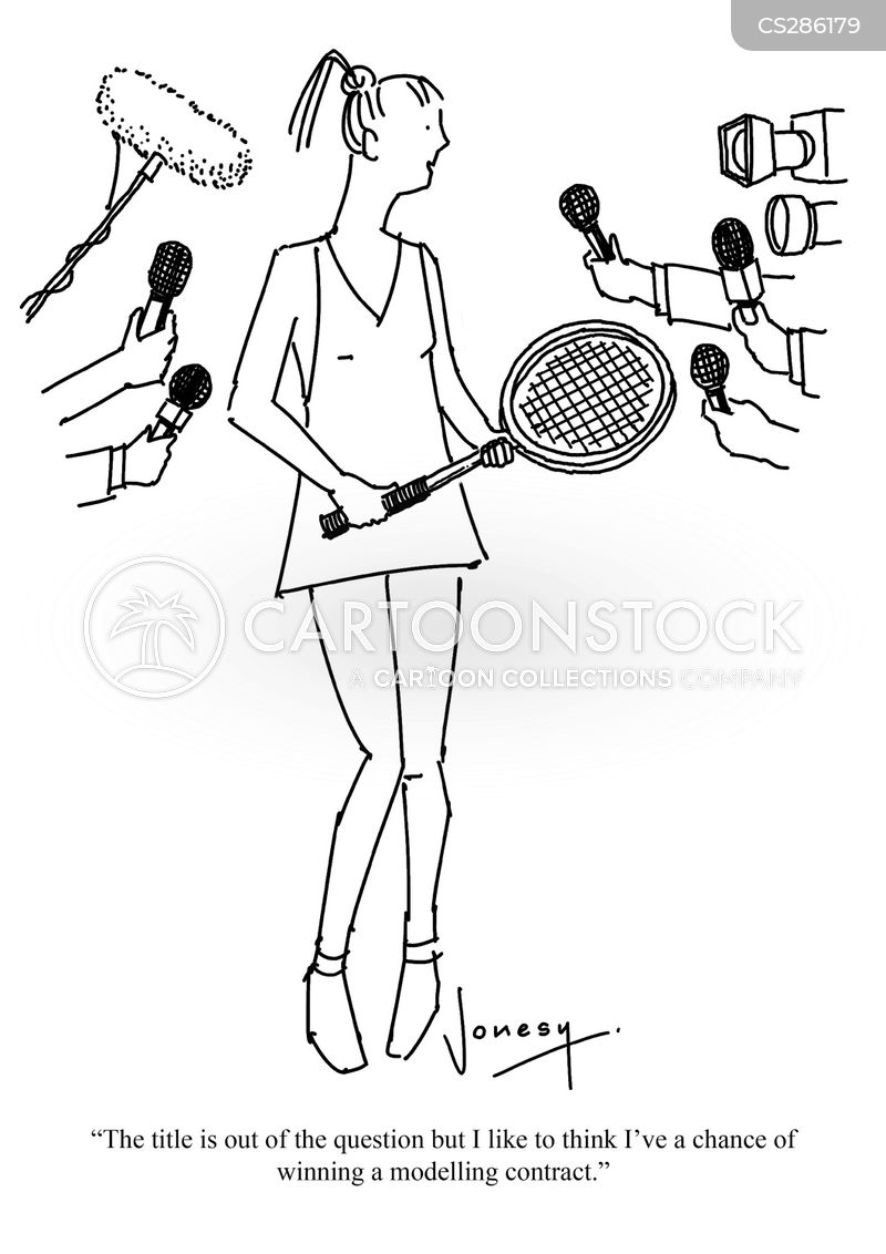 tennis tournament cartoon
