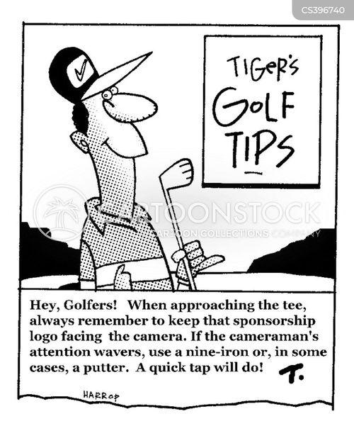 tiger woods cartoon