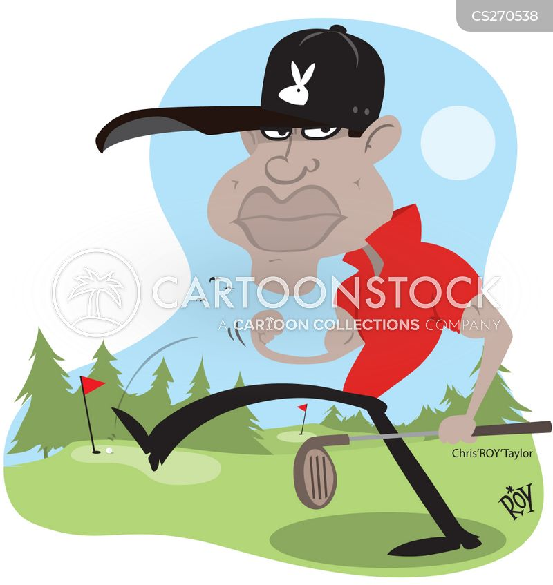 professional golfer cartoon