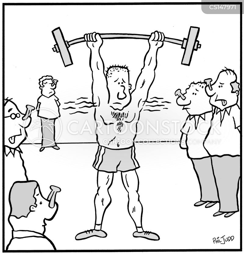 Barbells Cartoons and Comics - funny pictures from CartoonStock