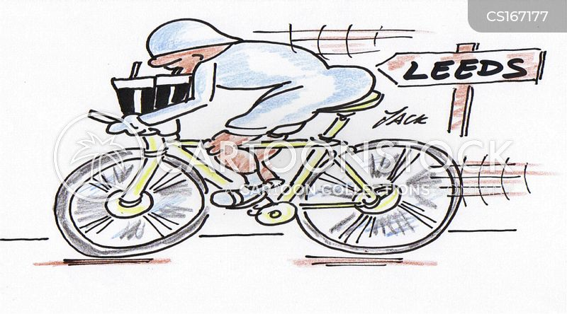 cyclists cartoon