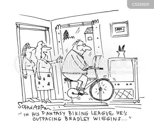 road bikes cartoon