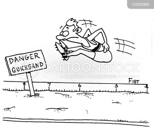 long jump cartoon