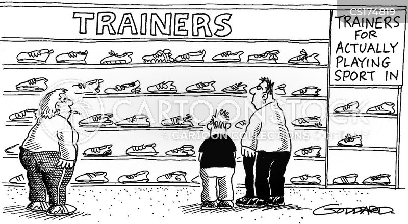 fashion sneaker cartoon