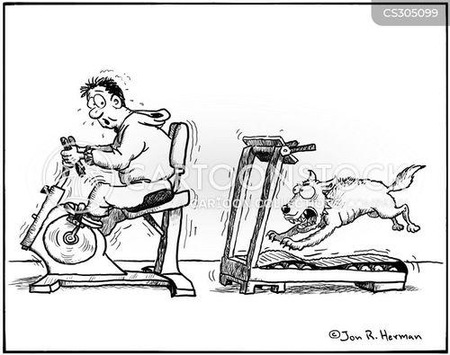 Cycling Machine Cartoons and Comics