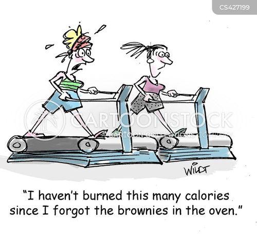 calorie burning cartoon