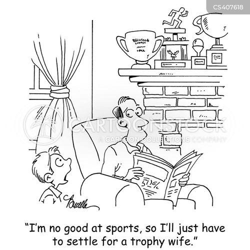 natural athlete cartoon