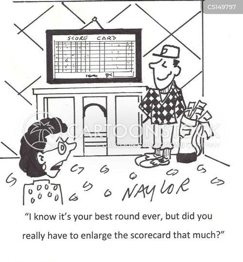 scorecard cartoon