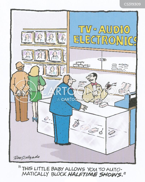 sales assistants cartoon