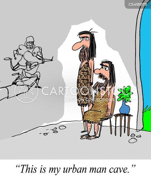 man cave cartoon
