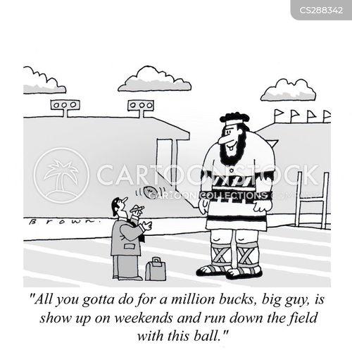 professional sport cartoon