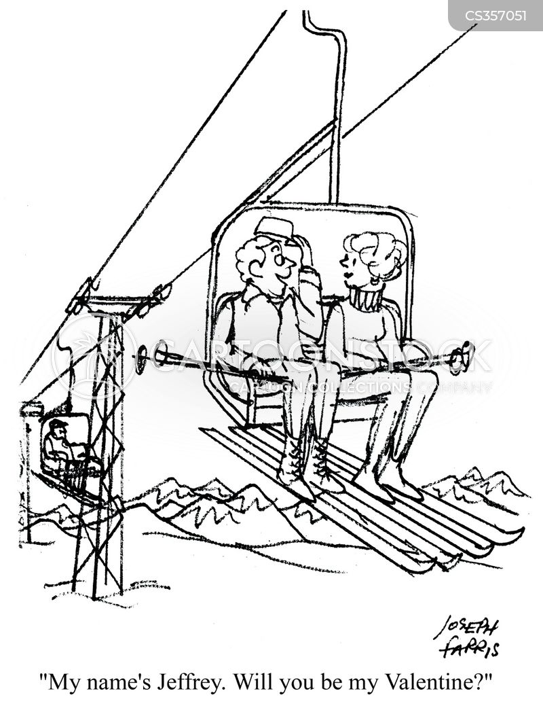 ski-lift cartoon