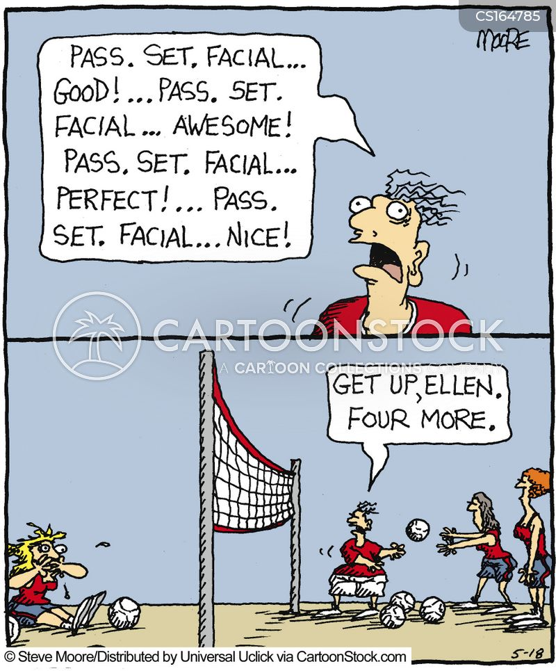coaching session cartoon