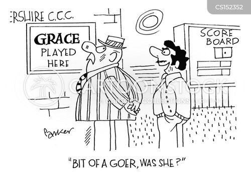 cricket ground cartoon