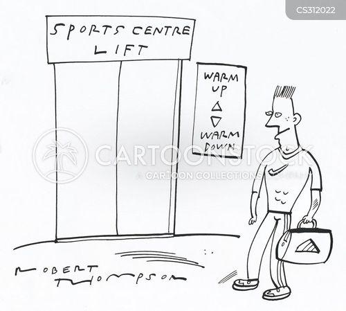 sports centres cartoon