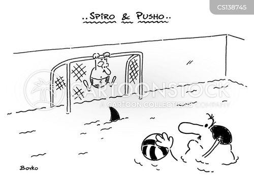 water polo cartoon