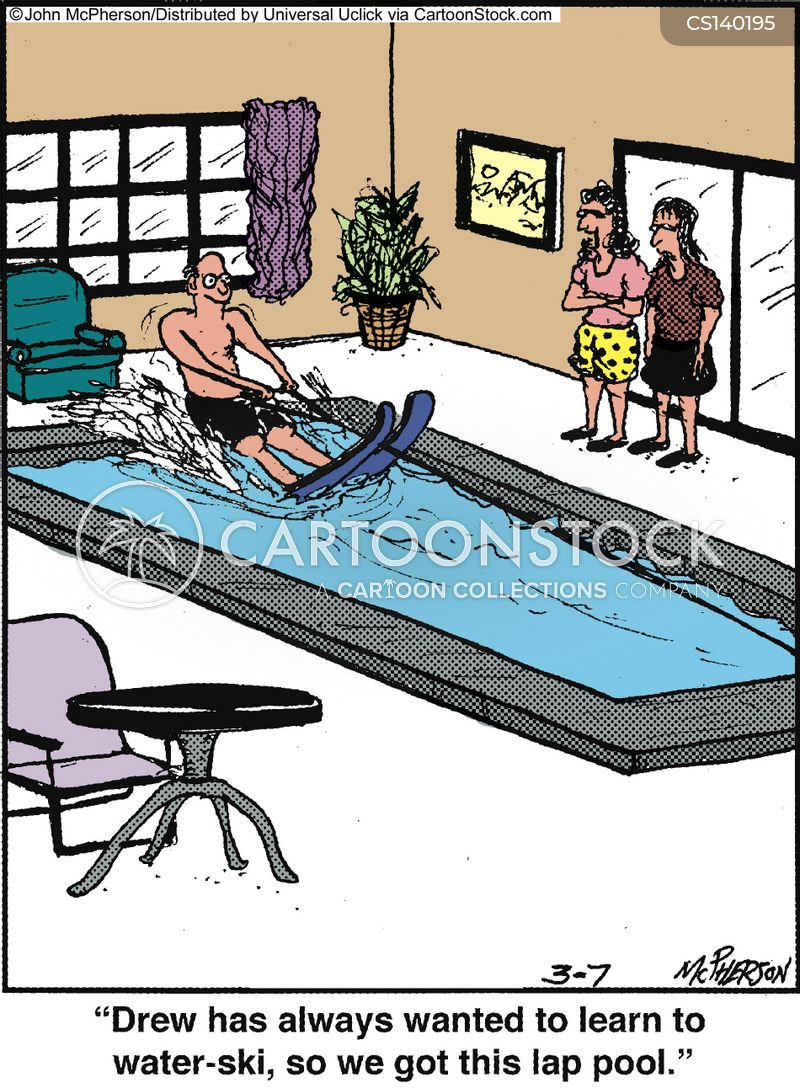 water ski cartoon