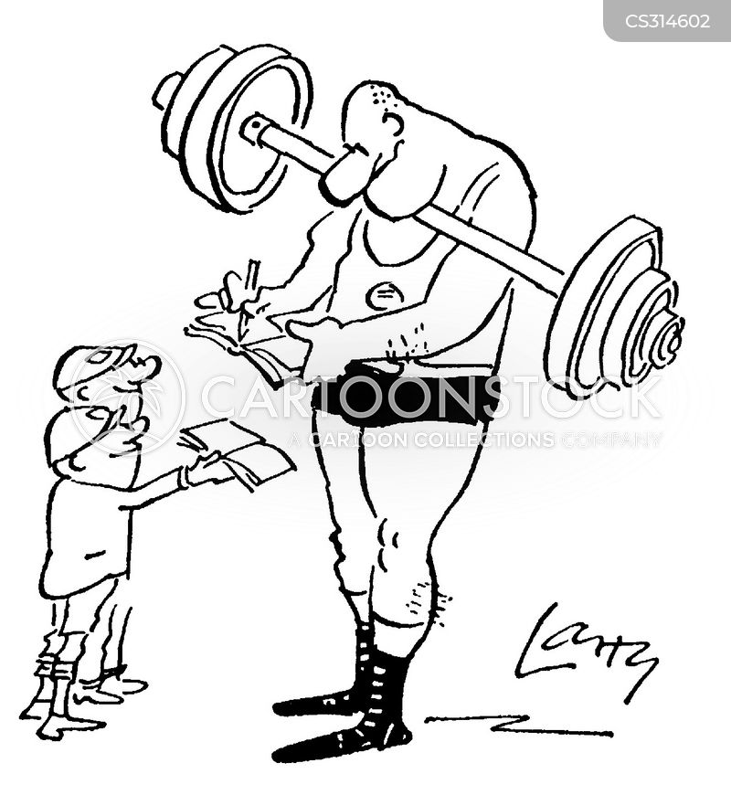 strong man cartoon
