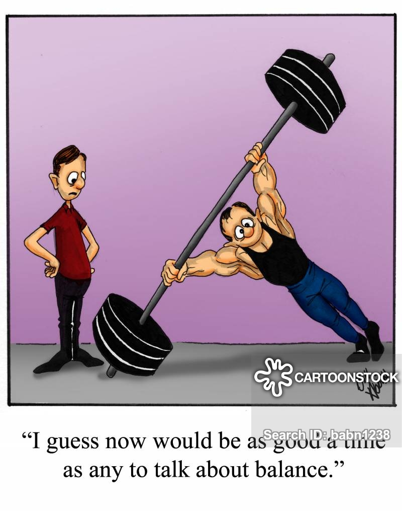 dumb bells cartoon
