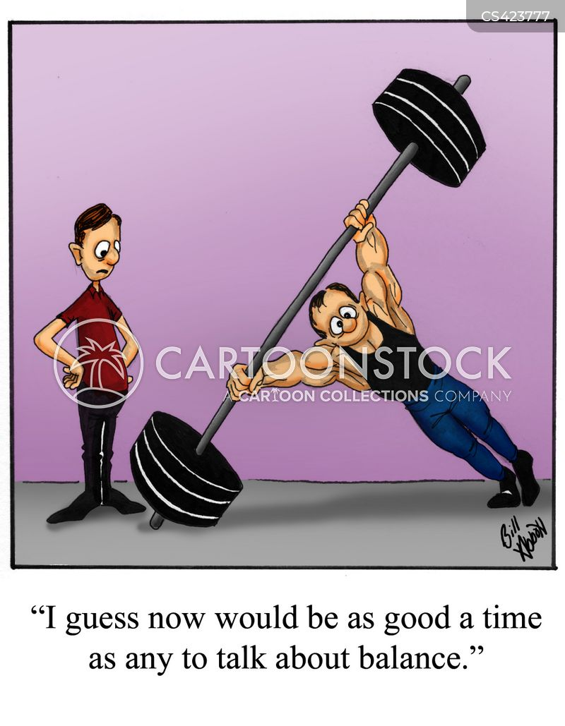weight-lifters cartoon