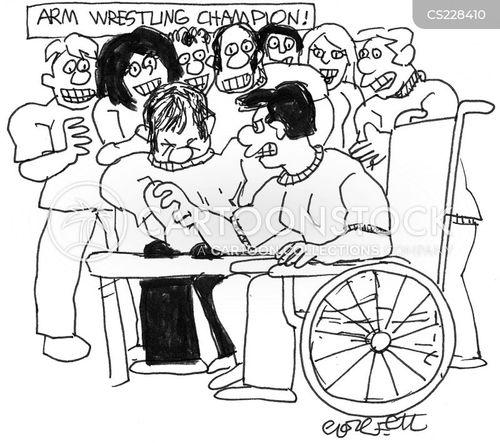 wheelchair bound cartoon
