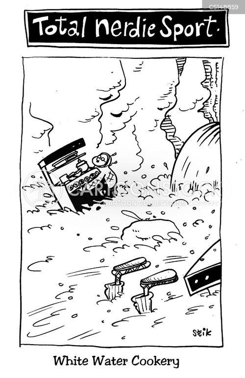 rafting cartoon