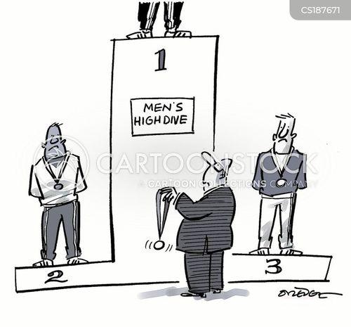 podiums cartoon