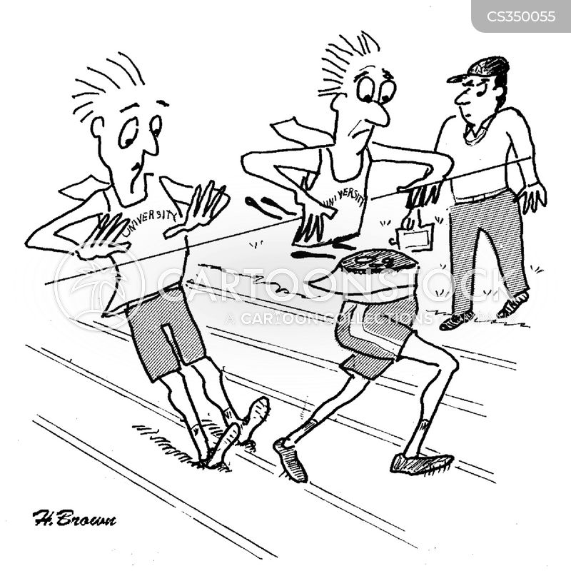 race-track cartoon