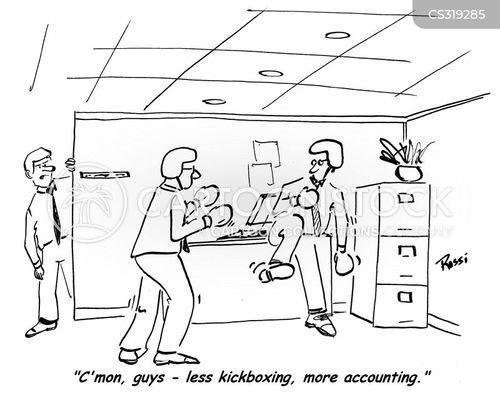 kickboxing cartoon