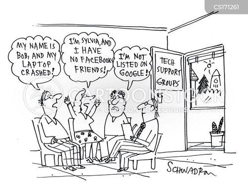 laptop crash cartoon