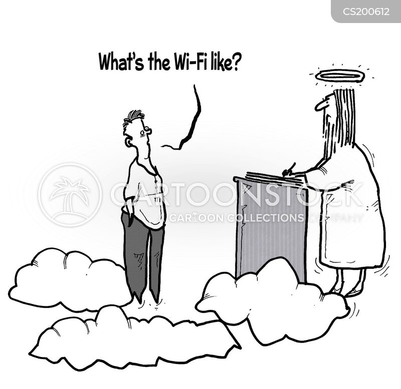 wifi connections cartoon