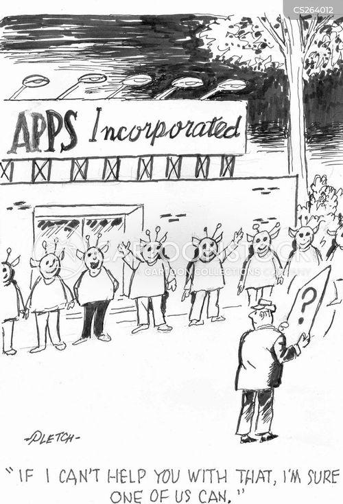 electronics stores cartoon