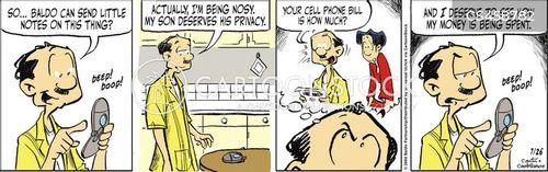nosing around cartoon