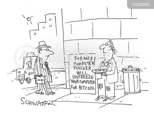 electronic money cartoon