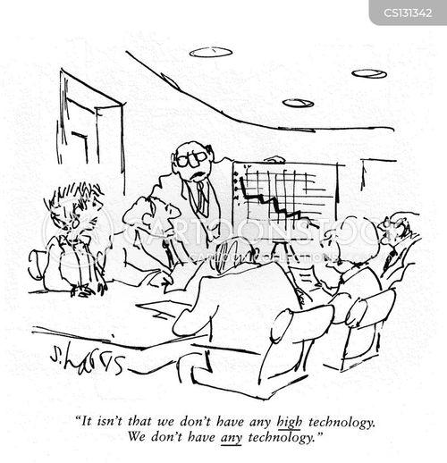 high technology cartoon
