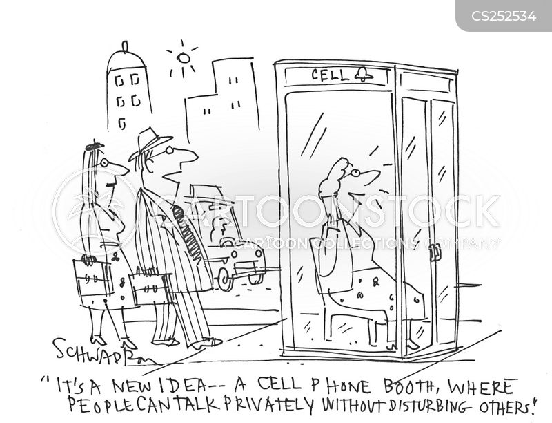phone booth cartoon