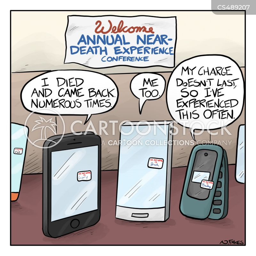 dead batteries cartoon